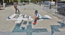"Embedded thumbnail for ""3D FEST"": Первый 3D рисунок на асфальте в Алматы"